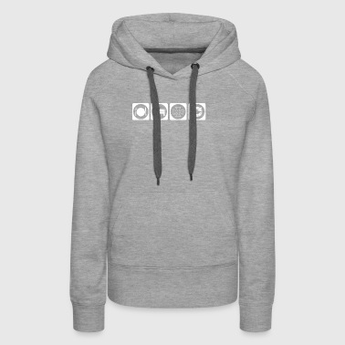 geschenk eat sleep repeat iron cross cycle bike bi - Women's Premium Hoodie