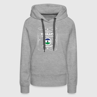 DON T NEED THERAPIE WANT GO LESOTHO - Women's Premium Hoodie