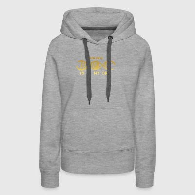 dns dna roots love calling hiking klettern bergste - Women's Premium Hoodie