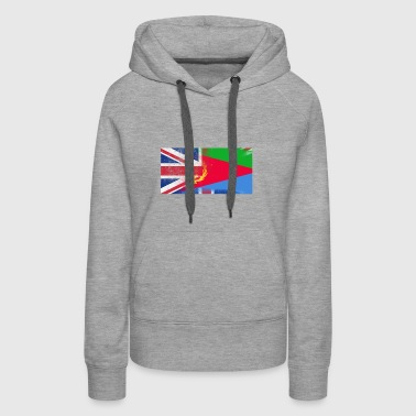 British Eritrean Half Eritrea Half UK Flag - Women's Premium Hoodie