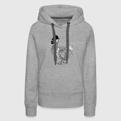 Derby Dodo With Bowler Hat - Women's Premium Hoodie