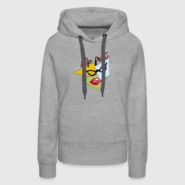 pop art glasses - Women's Premium Hoodie