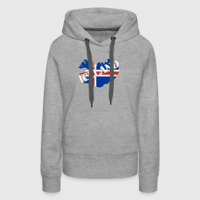 MAP OF ICELAND SHIRT - Women's Premium Hoodie