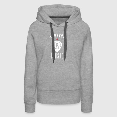 country music plectron Guitar band - Women's Premium Hoodie