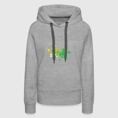 spotted by unwanted stains - Women's Premium Hoodie