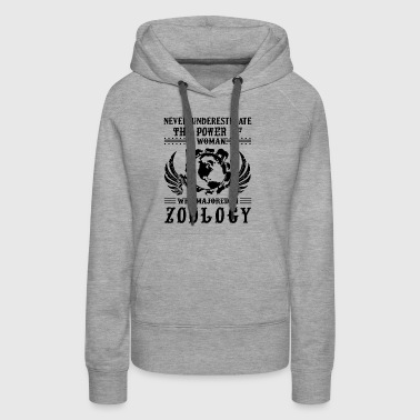 The Power Of A Woman Who Major In Zoology Shirt - Women's Premium Hoodie