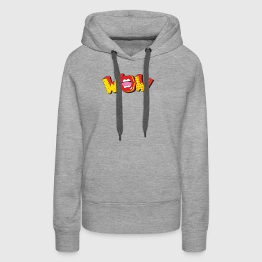 WOW AWESOME FUNNY POP-ART GIFT T-SHIRT - Women's Premium Hoodie