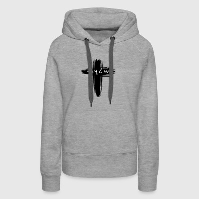 Shalom Ancient Hebrew Text with a Cross - Women's Premium Hoodie