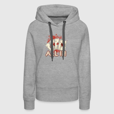 All In Aces Cards Blackjack Poker Shirt - Women's Premium Hoodie