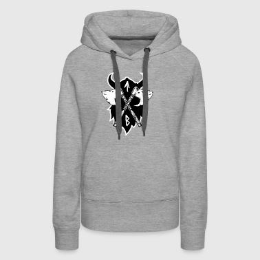 Vikings Viking Axe, Greeting from Valhall - Women's Premium Hoodie