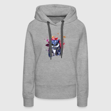 Owl Watercolor T shirt - Women's Premium Hoodie