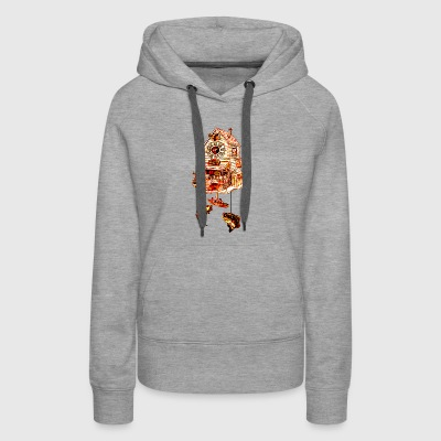 Fishing Lodge Cuckoo Clock - Women's Premium Hoodie
