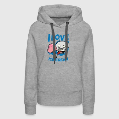 I Love Ice Cream - Women's Premium Hoodie