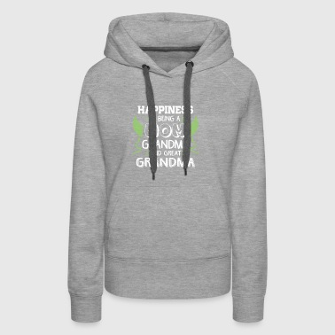 Happiness Is Being A Mom Grandma T Shirt - Women's Premium Hoodie