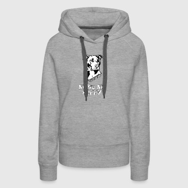 Pit Bulls Make Me Happy T Shirt - Women's Premium Hoodie