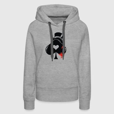 Poker hat ace of spades - Women's Premium Hoodie