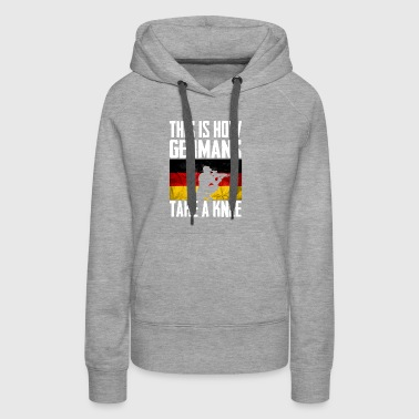 This is How Germans Take a Knee white - Women's Premium Hoodie