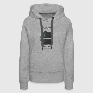 SUPREME HUSTLE CLUB MOUNTIAN - Women's Premium Hoodie
