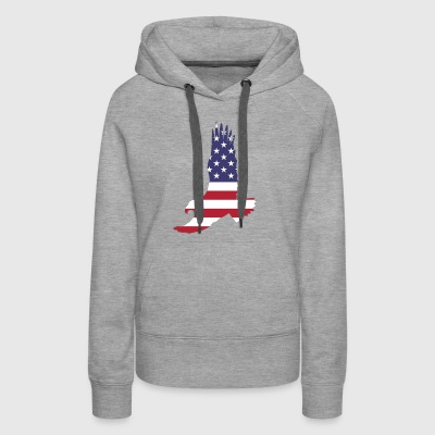 America Animal Bald Eagle Bird Flag 1298038 - Women's Premium Hoodie