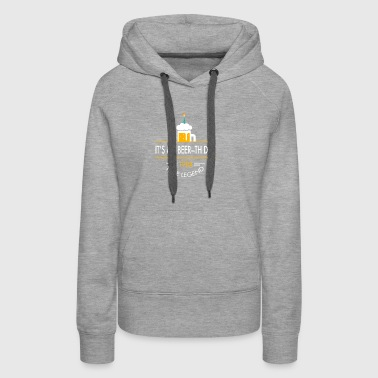 It s My Beer th Day 1984 True Legend - Women's Premium Hoodie