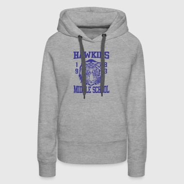 Stranger Things Hawkins Middle High School Tigers - Women's Premium Hoodie