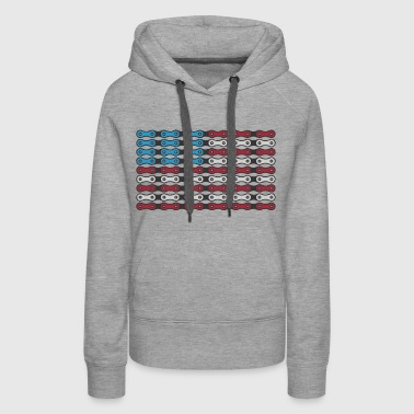 Ride White and Blue - Women's Premium Hoodie
