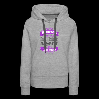 Not Superwoman, But A Real Estate Agent (Purple) - Women's Premium Hoodie