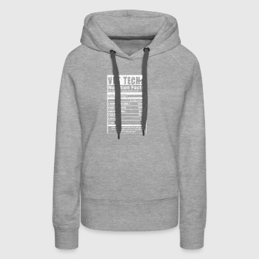 Vet Tech nutrition Facts - Women's Premium Hoodie