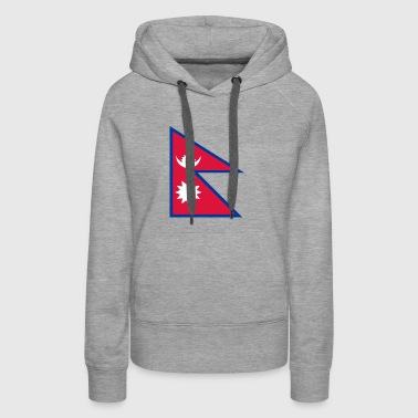 National Flag Of Nepal - Women's Premium Hoodie