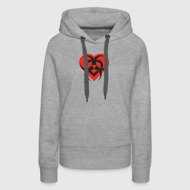 Love is a Biohazard Funny Symbol - Women's Premium Hoodie