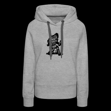 Sasquatch Fun Cool Beer - Women's Premium Hoodie
