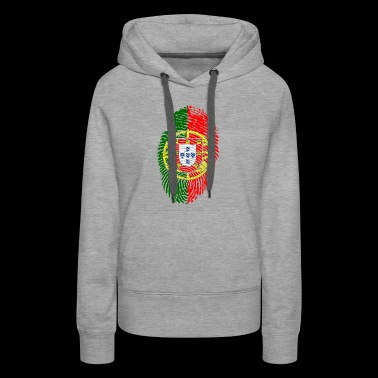 fingerprint i love wurzeln portugal - Women's Premium Hoodie