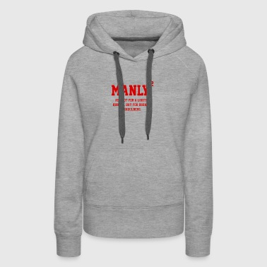 MANLY SQUARED - Women's Premium Hoodie