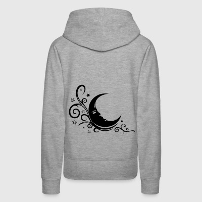 Large moon with Tribal and stars. - Women's Premium Hoodie