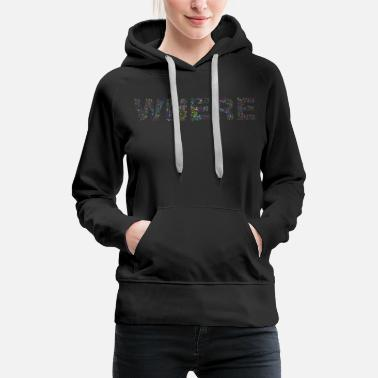 Question Mark Where Typography - Women's Premium Hoodie