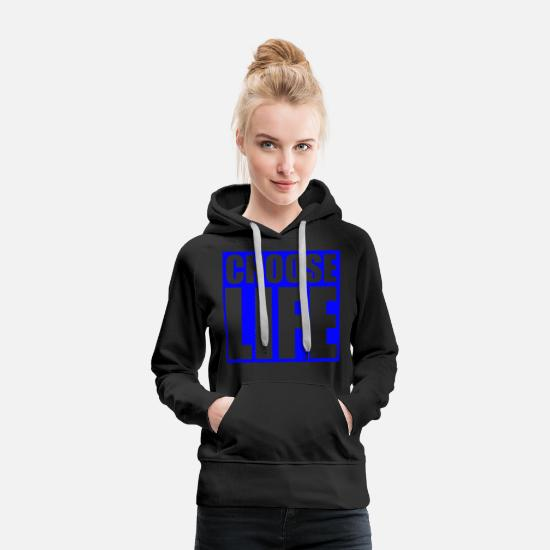 Music Hoodies & Sweatshirts - CHOOSE LIFE WHAM - Women's Premium Hoodie black