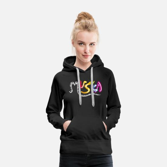 Musical Hoodies & Sweatshirts - music - Women's Premium Hoodie black