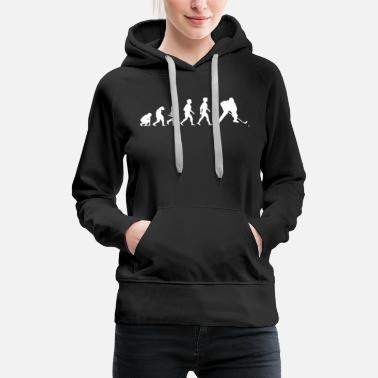 Hockey Stick Evolution Hockey Player Puck Stick Winter Sports - Women's Premium Hoodie