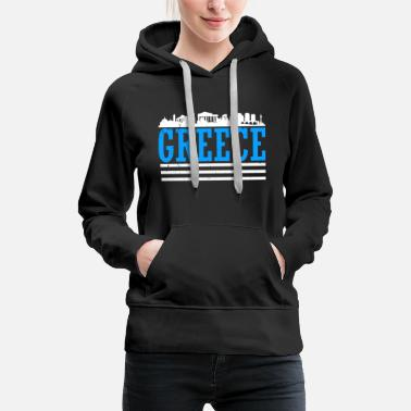 Greece Greece country Athens flag capital holiday - Women's Premium Hoodie