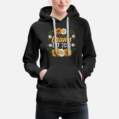 Grams Est 2021 Cute Sunflower Gifts New Grams - Women's Premium Hoodie