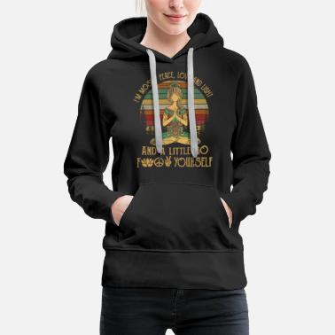 Little I'm Mostly Peace Love And Light - Women's Premium Hoodie