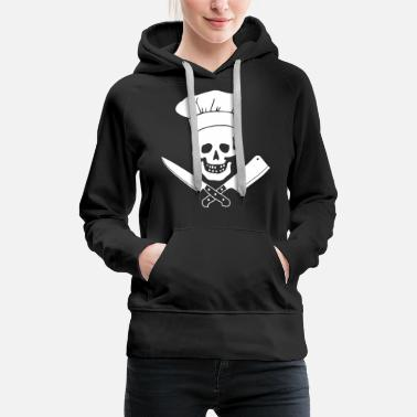 Grilling Head Chef Funny Cooking Butcher Culinary Cooking - Women's Premium Hoodie
