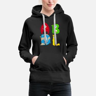 ABDL ABC Monster A is for Adult, B is for Baby C - Women's Premium Hoodie