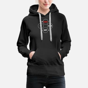 Reenact - Repair Sleep Eat Reeanctors Day in Life - Women's Premium Hoodie