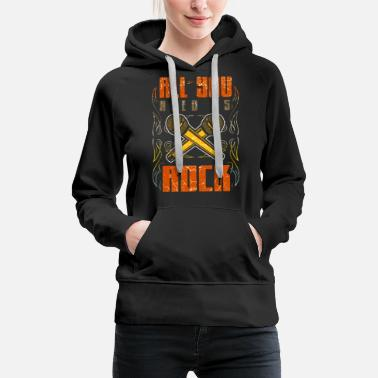 Music Club Rock Vintage Rock and Roll Music Guitar Gift - Women's Premium Hoodie