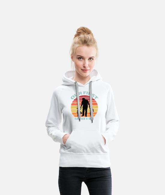 Father's Day Hoodies & Sweatshirts - dad 2020Dad Daughter Family Father's Day - Women's Premium Hoodie white
