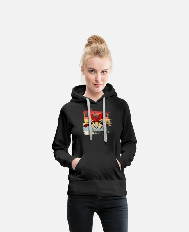 Hammer Hoodies & Sweatshirts - Tool retro gift for Plumber - Women's Premium Hoodie black