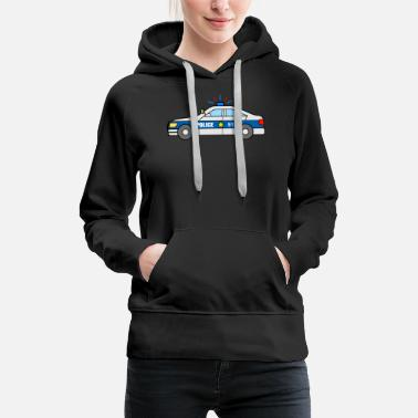 Toddler Police Vehicle Boys Cop Car Sheriff - Women's Premium Hoodie