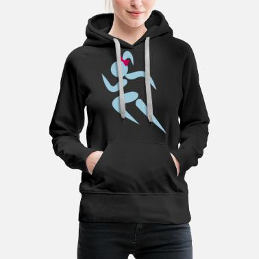 I Love Kayaking ❤✦Sexy Female Sprinter Wearing a Pony tail✦❤ - Women's Premium Hoodie