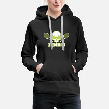 Table Tennis Player Tennis Skull Racket green Gift - Women's Premium Hoodie